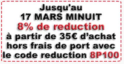 8% de reduction
