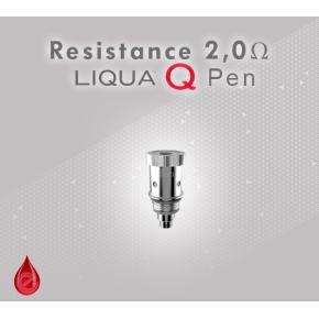 Resistance 2,0 Ω pour Liqua Q Pen Dual coil