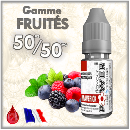 50/50 50/50 MAVERICK - Flavour POWER - e-liquide 10ml
