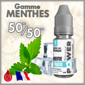 50/50 MENTHE FRAICHE - Flavour POWER - e-liquide 10ml FLAVOUR POWER