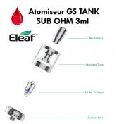 Accessoires clearomiseur ELEAF GS TANK sub ohm