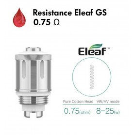 Resistance 0,75 Ohm Eleaf GS