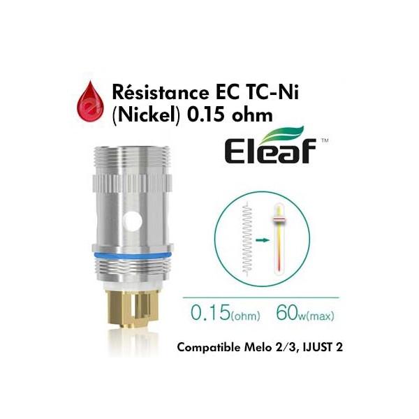 Resistance Eleaf EC TC-Ni - 0.15Ω (Nickel) - Melo 2/3 et iJust 2  Eleaf