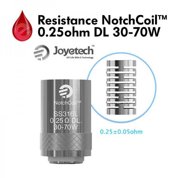 Resistance Joyetech NotchCoil™ 0.25Ω DL 30-70W Joyetech