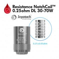 Resistance Joyetech NotchCoil™ 0.25Ω DL 30-70W