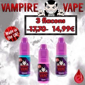 Vampire Vape pack promo de 3 flacons