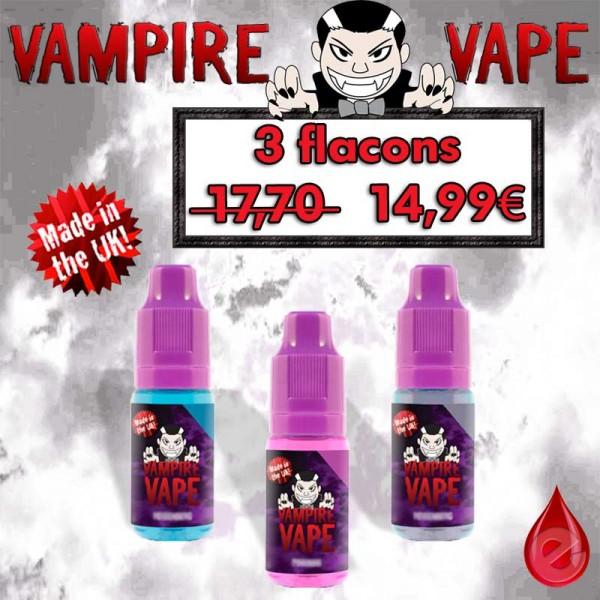 PACKS Vampire Vape pack promo de 3 flacons