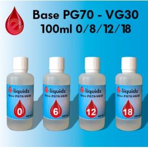Base PG70/VG30 e-liquidz • 100ml (sans arômes)