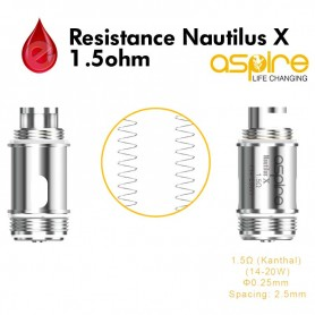Resistance 1,5ohm aspire Nautilus X U-Tech