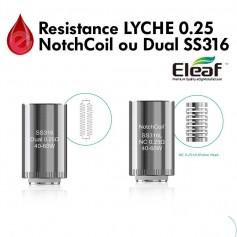 Resistance pour LYCHE ELEAF- 0.25Ω