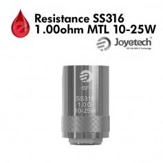 Mèches, Résistances Resistance Joyetech SS316 1.00Ω MTL 10-25W