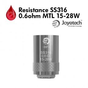 Resistance Joyetech SS316 0.60Ω MTL 15-28W