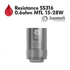 Mèches, Résistances Resistance Joyetech SS316 0.60Ω MTL 15-28W