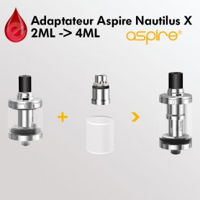 ADAPTATEUR Aspire Nautilus X 2ML vers 4ML