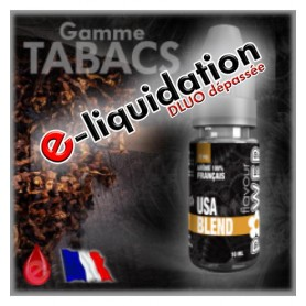 TABAC USA BLEND - DÉSTOCKAGE Flavour POWER - e-liquide 10ml