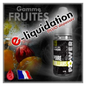 POIRE WILLIAMS - DÉSTOCKAGE Flavour POWER - e-liquide 10ml