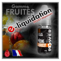 PECHE/ABRICOT - DÉSTOCKAGE Flavour POWER - e-liquide 10ml
