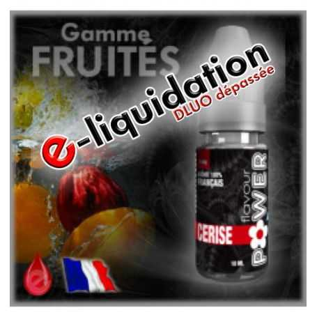 E-LIQUIDES Destockage CERISE - DÉSTOCKAGE Flavour POWER - e-liquide 10ml