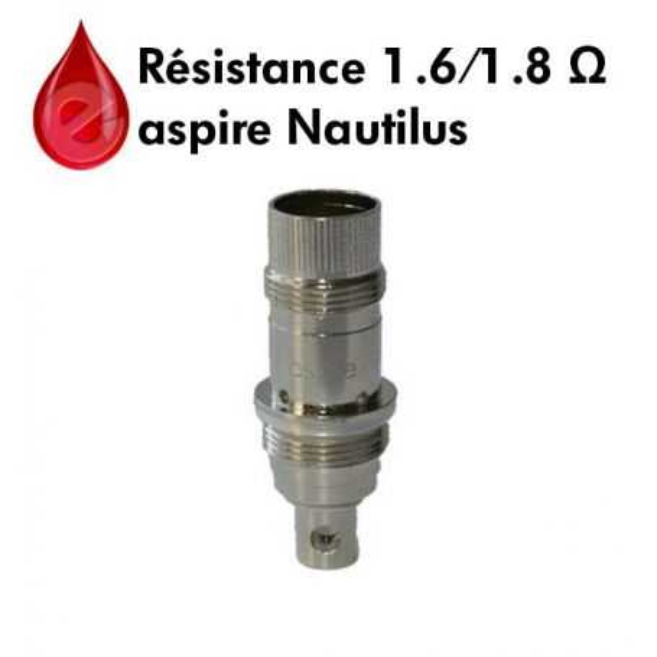 Resistance 1,6 / 1,8ohm BVC aspire Nautilus ASPIRE