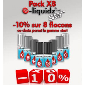 Pack lot de 8 e-liquides à prix discount