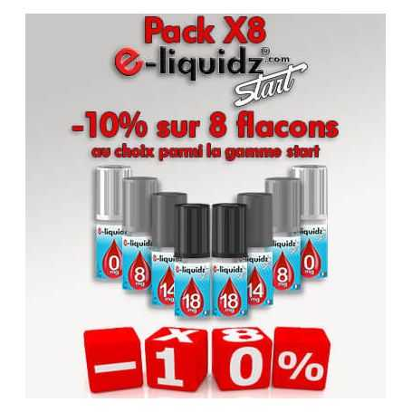 PACKS PACK DE 8 e-liquides • e-liquidz START