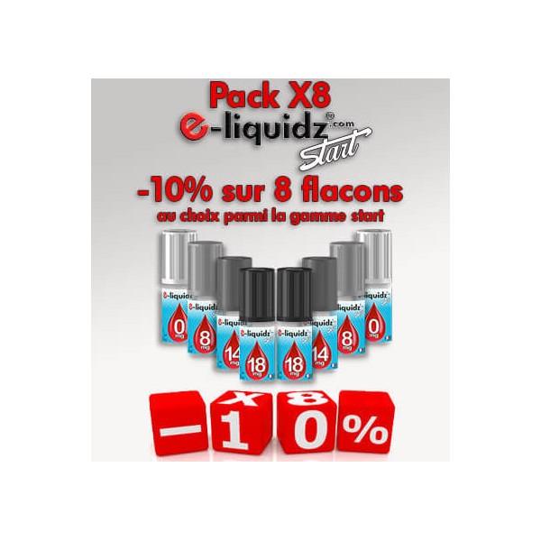 PACK DE 8 e-liquides • e-liquidz START