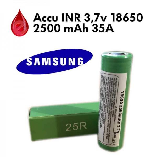 ACCU INR 35A 2500 MAH SAMSUNG 25R 18650