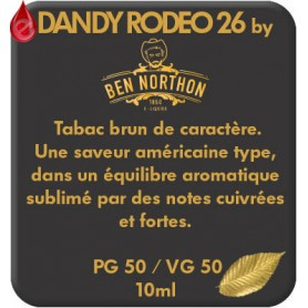 DANDY - RODEO 26 e-liquide 10ml DANDY® PARIS par liquideo