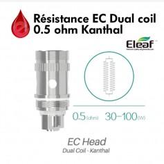 Mèches, Résistances Resistance Eleaf EC dual coil - 0.5Ω - Melo 2/3 et iJust 2