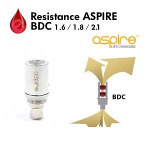 Resistance 1.6/1.8/2.1 ohm aspire BDC ASPIRE