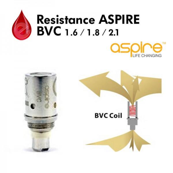 Resistance 1.6/1.8/2.1 ohm aspire BVC