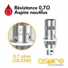 Mèches, Résistances Resistance 0,7ohm BVC aspire Nautilus2