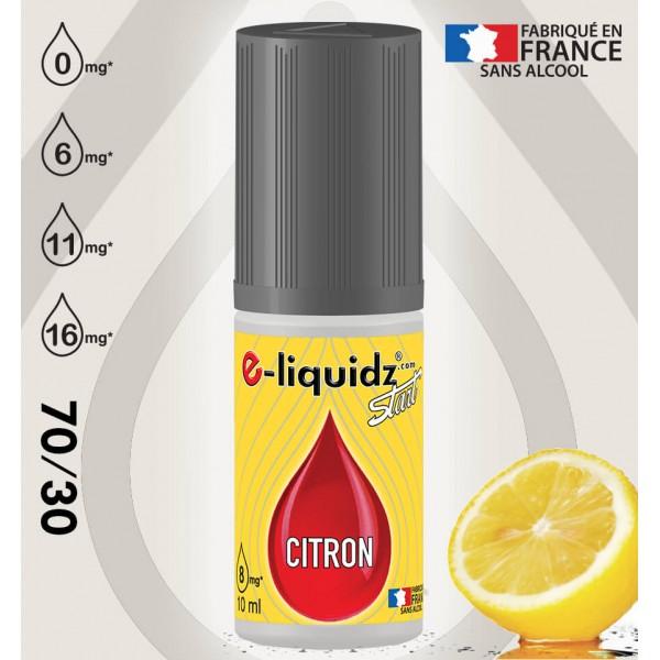 CITRON e-liquidz START • eliquide 10ml e-liquidz START • e liquide pas cher !