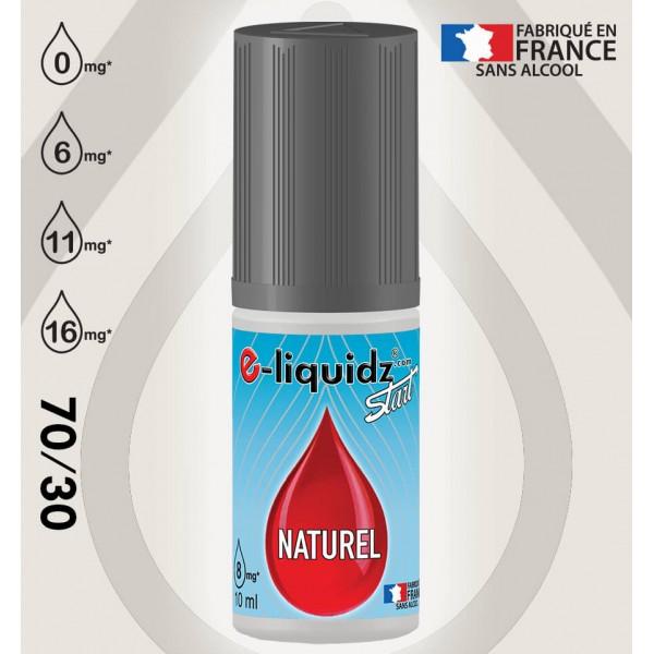 e-liquide NATUREL e-liquidz START • 10ml (sans aromes)  e-liquidz START • e liquide pas cher !