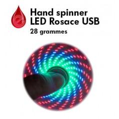 FIDGET HAND SPINNER ROSACE LED USB