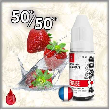 FRUITE 50/50 FRAISE - Flavour POWER - e-liquide 10ml