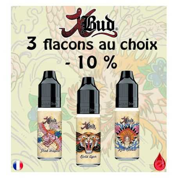 Xbud pack promo de 3 flacons LIQUIDEO