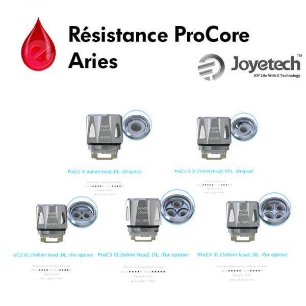 Mèches, Résistances Résistances ProC ProCore joyetech