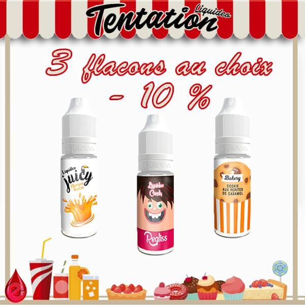 PACKS Tentation pack promo de 3 e-liquides