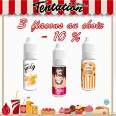 PACKS Tentation pack promo de 3 e-liquides