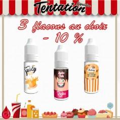 Tentation pack promo de 3 e-liquides