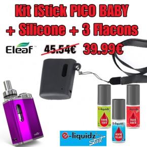 Pack iStick BABY+ silicone + 3 e-liquidz START