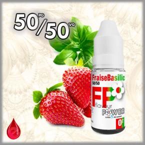 50/50 FRAISE BASILIC - Flavour POWER - e-liquide 10ml