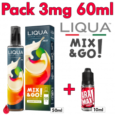 PACKS Pack 3mg 60ml LIQUA Mix & Go