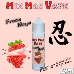 Mix Max Vape 40ml FRAISE NINJA - Mix Max Vape - e-liquide 40ml