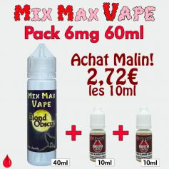 Pack 6mg 60ml Mix Max Vape