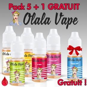 OLALA VAPE PACK DE 5 + 1 GRATUIT