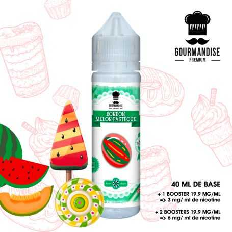 GOURMANDISE PREMIUM 40ml BONBON MELON PASTEQUE - GOURMANDISE PREMIUM - e-liquide 40ml