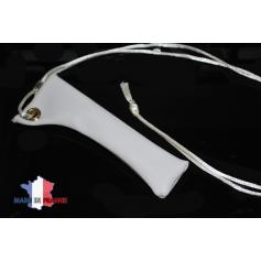 PORTE E-CIGARETTE SIMILICUIR BLANC étui fabrication française