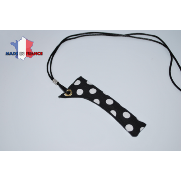 PORTE E-CIGARETTE NOIR GRANDS POINTS BLANC étui fabrication française